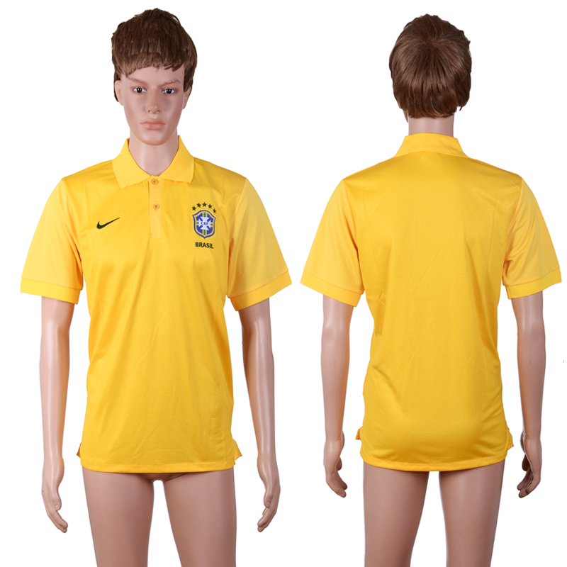 2016-17 Brazil Yellow Soccer Polo Shirt