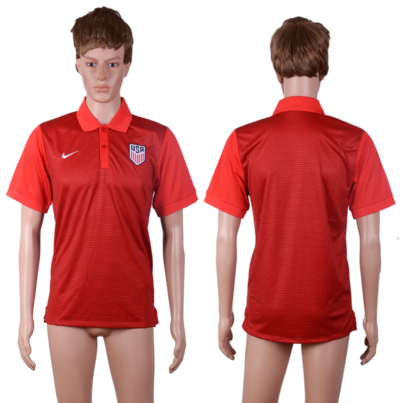 2016-17 USA Red Soccer Polo Shirt
