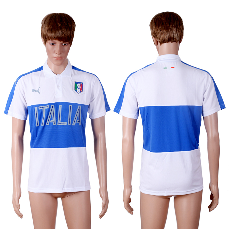 Italy White Men's Polo Shirt