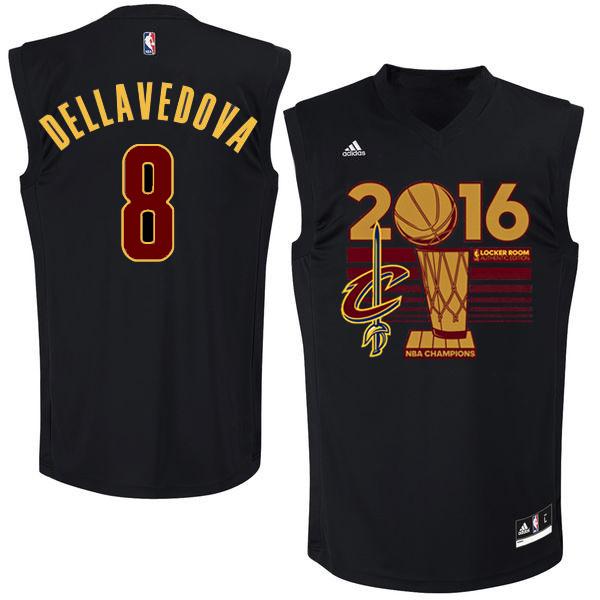 Cavaliers 8 Matthew Dellavedova Black 2016 NBA Finals Champions Jersey