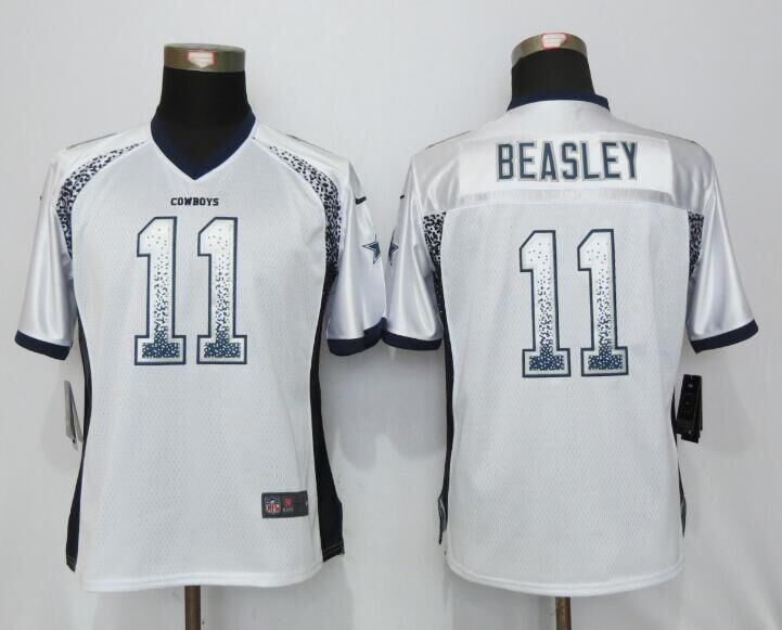Nike Cowboys 11 Cole Beasley White Women Drift Fashion Jersey