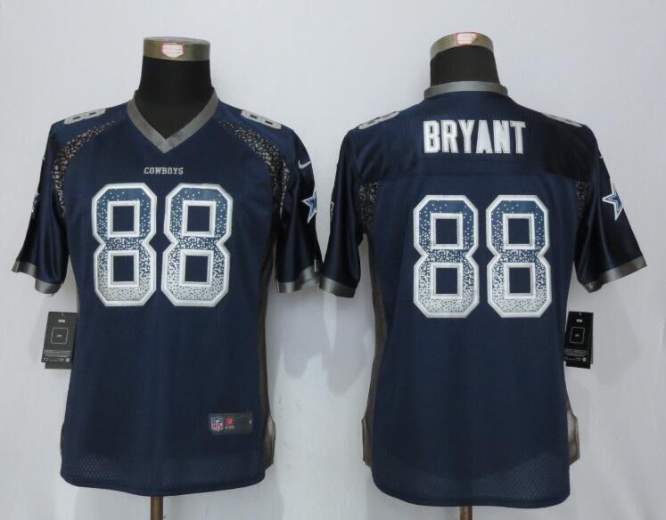 Nike Cowboys 88 Dez Bryant Blue Women Drift Fashion Jersey
