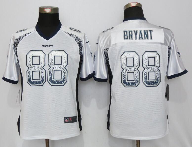 Nike Cowboys 88 Dez Bryant White Women Drift Fashion Jersey