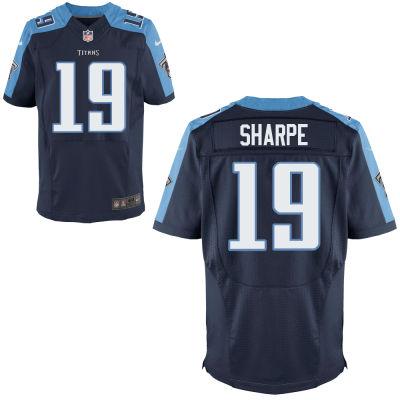 Nike Titans 19 Tajae Sharpe Navy Elite Jersey