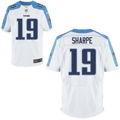 Nike Titans 19 Tajae Sharpe White Elite Jersey