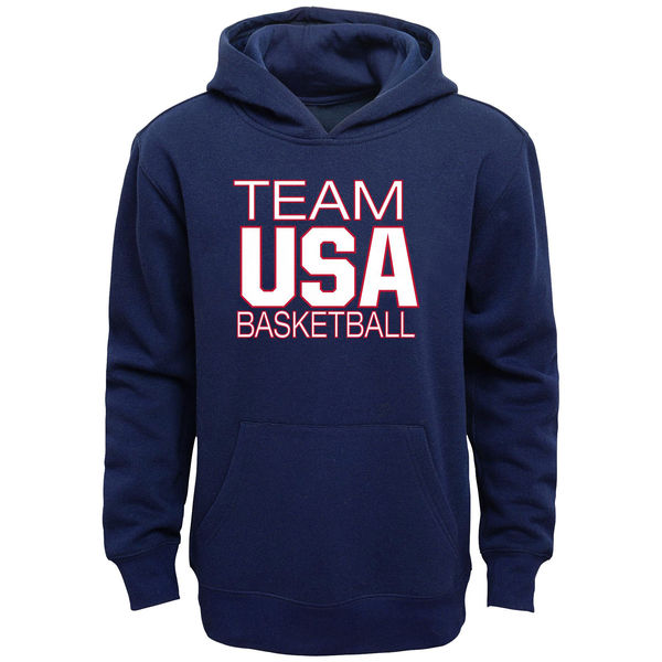 Team USA Basketball Youth National Governing Body Pullover Hoodie Navy