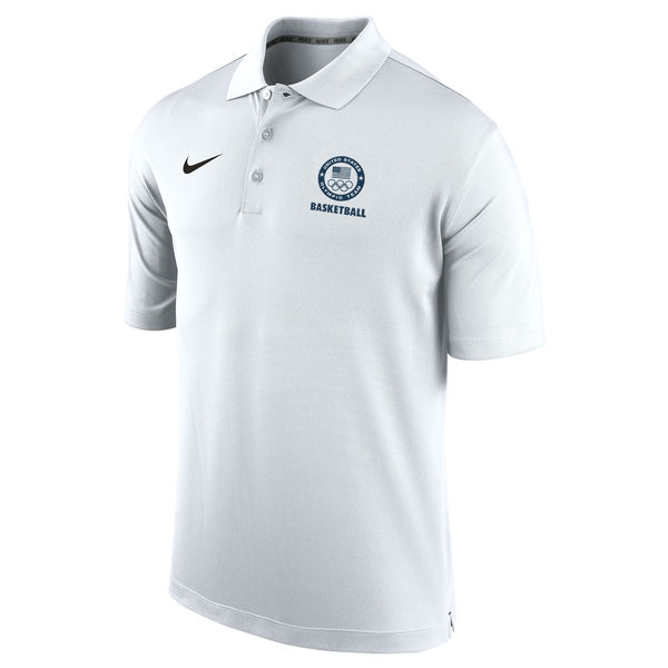 Team USA Nike Basketball Varsity Performance Polo White