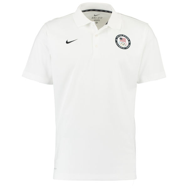 Team USA Nike Varsity Dri FIT Polo White