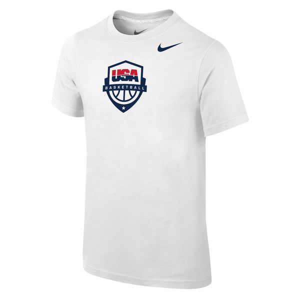 Team USA Nike Youth Baskeball Core T-Shirt White