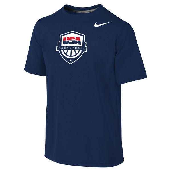 USA Basketball Nike Youth Legend Performance T-Shirt Navy