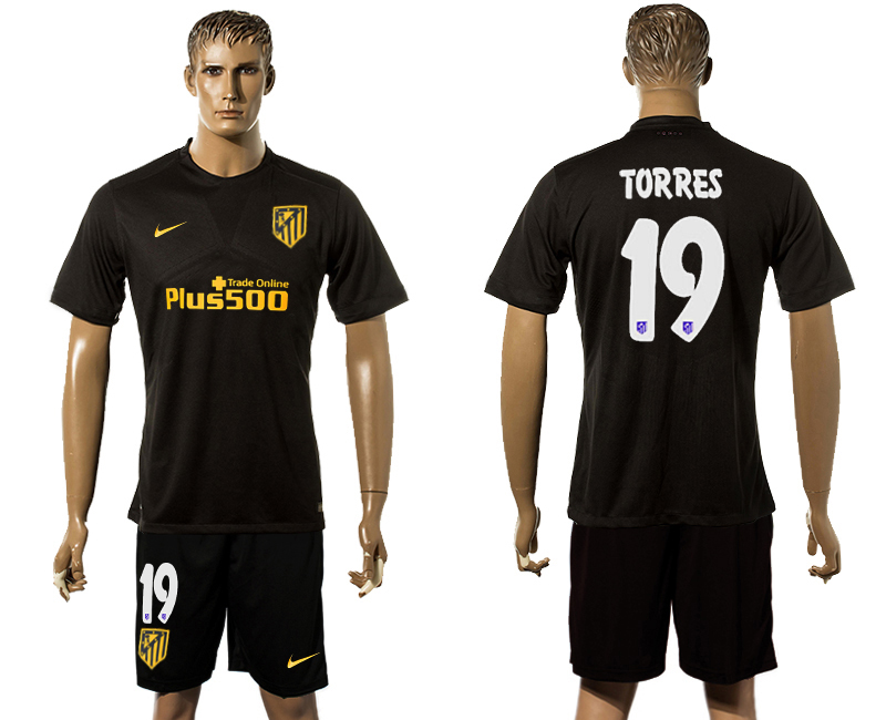 2016-17 Atletico Madrid 19 TORRES Away Soccer Jersey