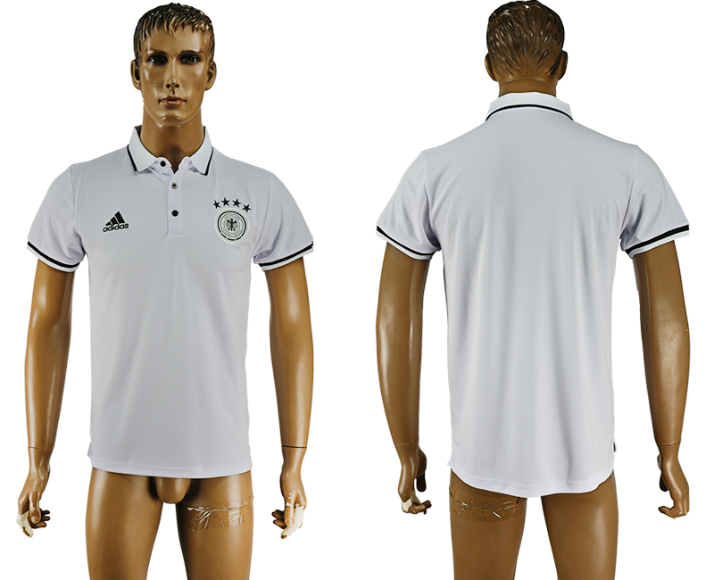 2016-17 Germany White Soccer Polo Shirt
