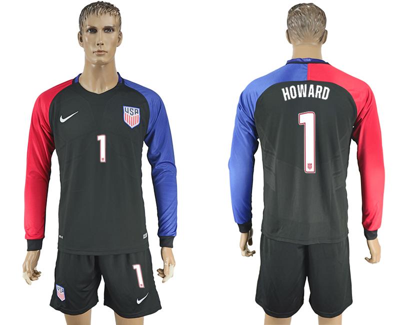 2016-17 USA Away Long Sleeve Soccer Jersey