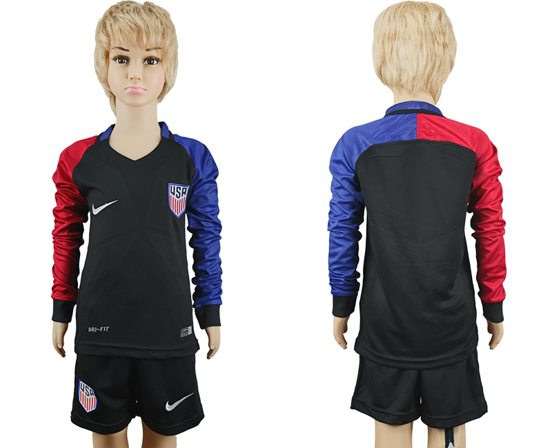 2016-17 USA Youth Long Sleeve Away Soccer Jersey