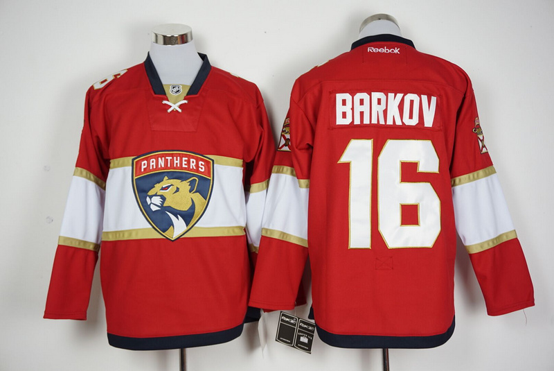 Panthers 16 Aleksander Barkov Red New Logo Reebok Jersey