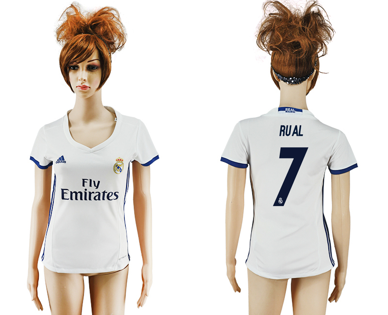 2016-17 Real Madrid 7 RUAL Home Women Soccer Jersey