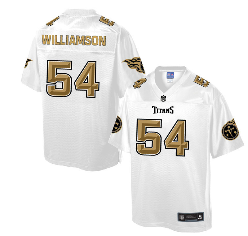 Nike Titans 54 Avery Williamson Pro Line White Gold Collection Elite Jersey