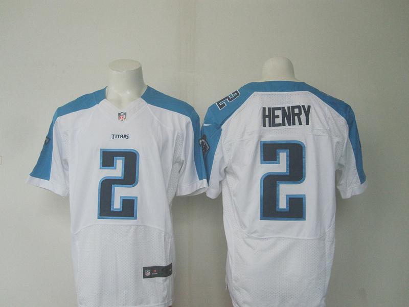 Nike Titans 2 Derrick Henry White Elite Jersey