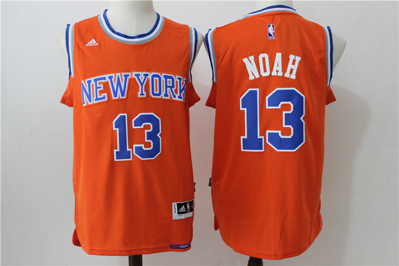 Knicks 13 Joakim Noah Orange Swingman Jersey