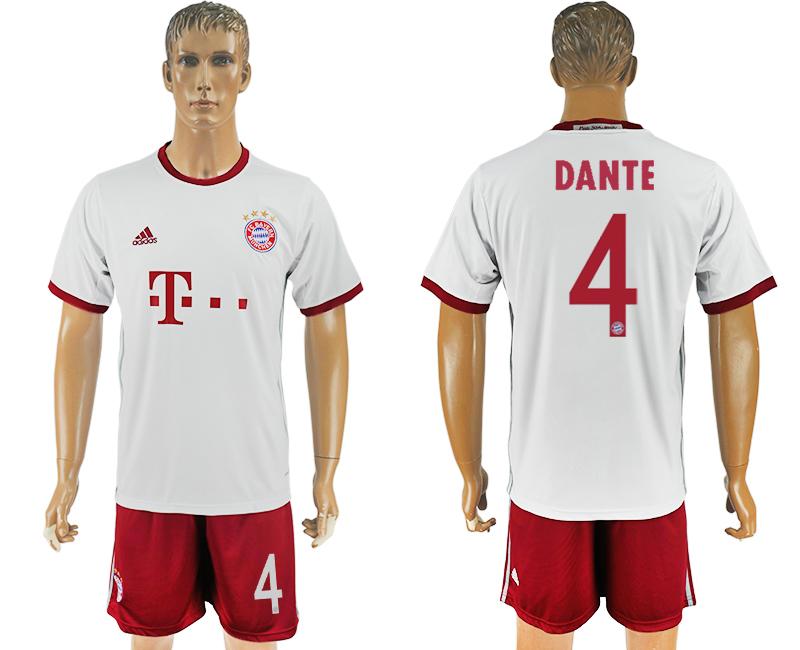 2016-17 Bayern Munich 4 DANTE Third Away Soccer Jersey