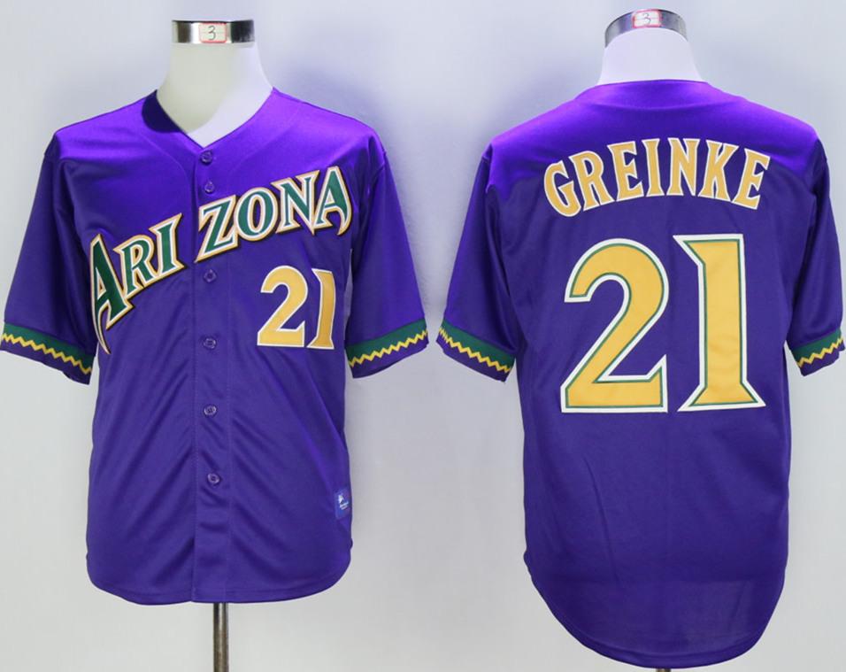 Diamondbacks 21 Zack Purple Throwback Jersey