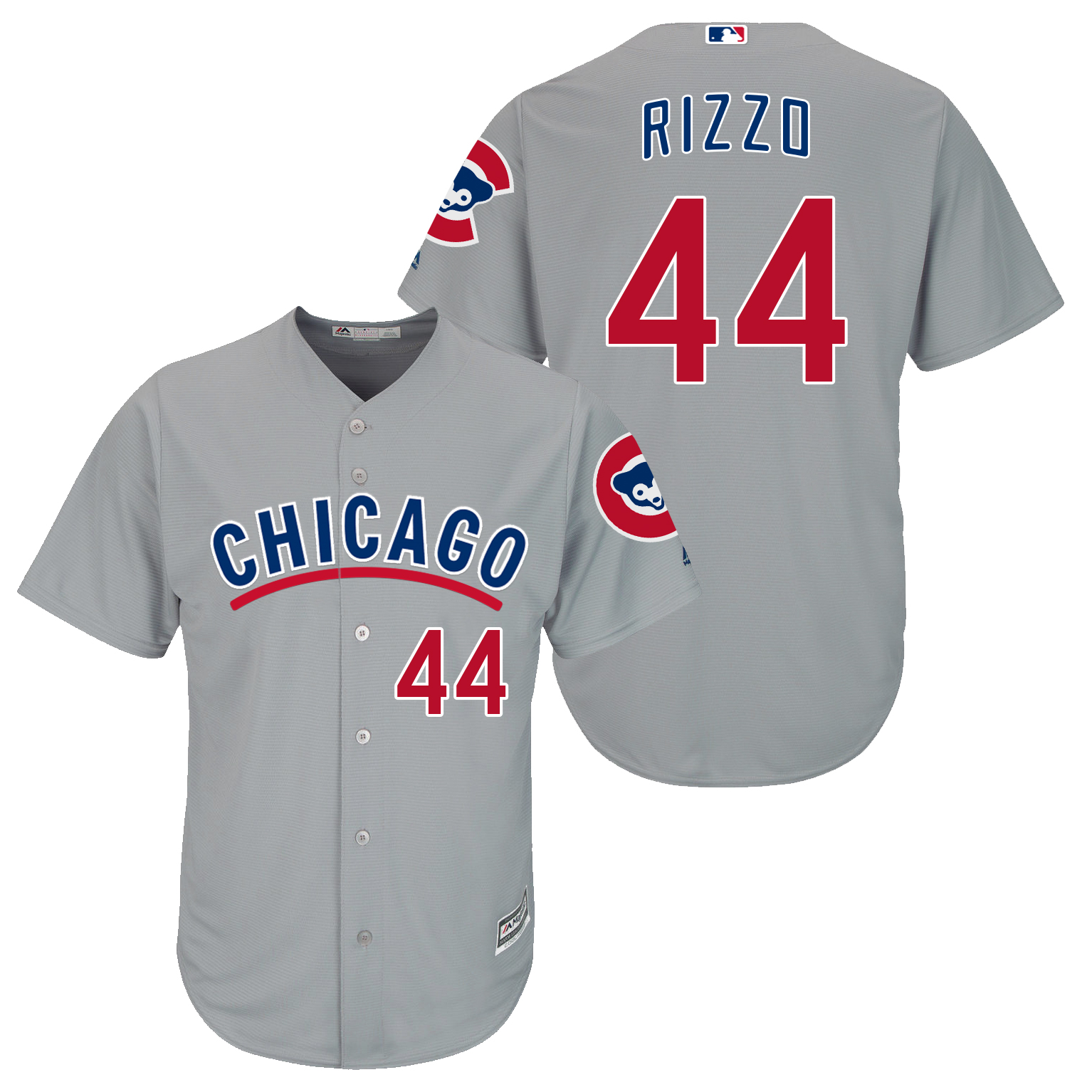 Cubs 44 Anthony Rizzo Grey New Cool Base Jersey