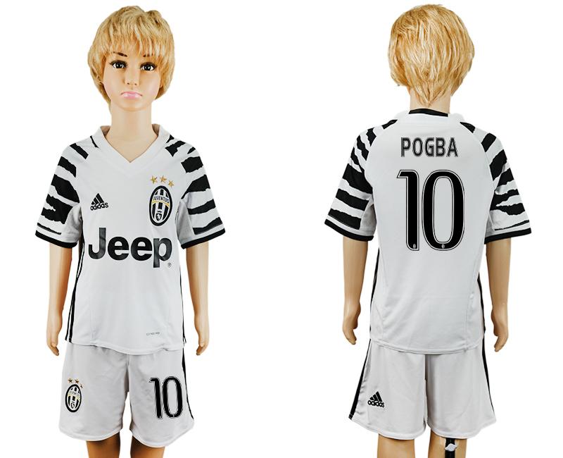 2016-17 Juventus 10 POGBA Third Away Youth Soccer Jersey