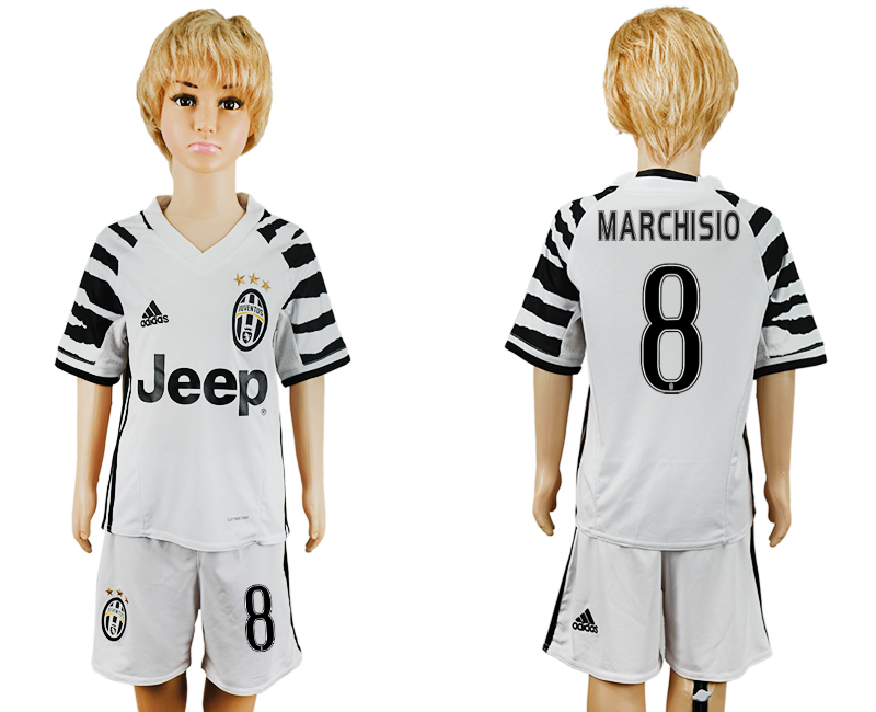2016-17 Juventus 8 MARCHISIO Third Away Youth Soccer Jersey