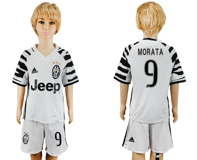 2016-17 Juventus 9 MORATA Third Away Youth Soccer Jersey