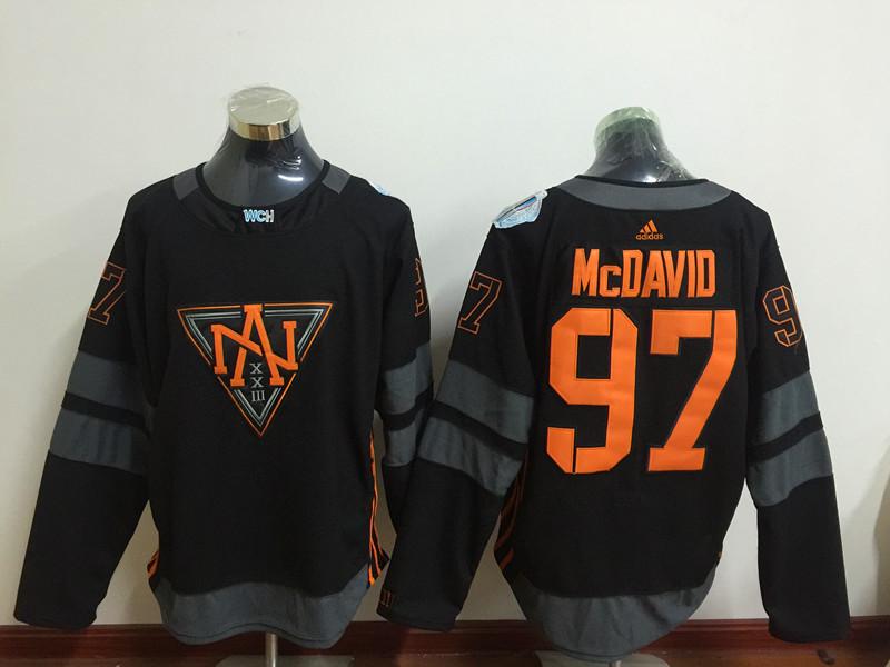 North America 97 Connor McDavid Black World Cup of Hockey 2016 Premier Player Jersey