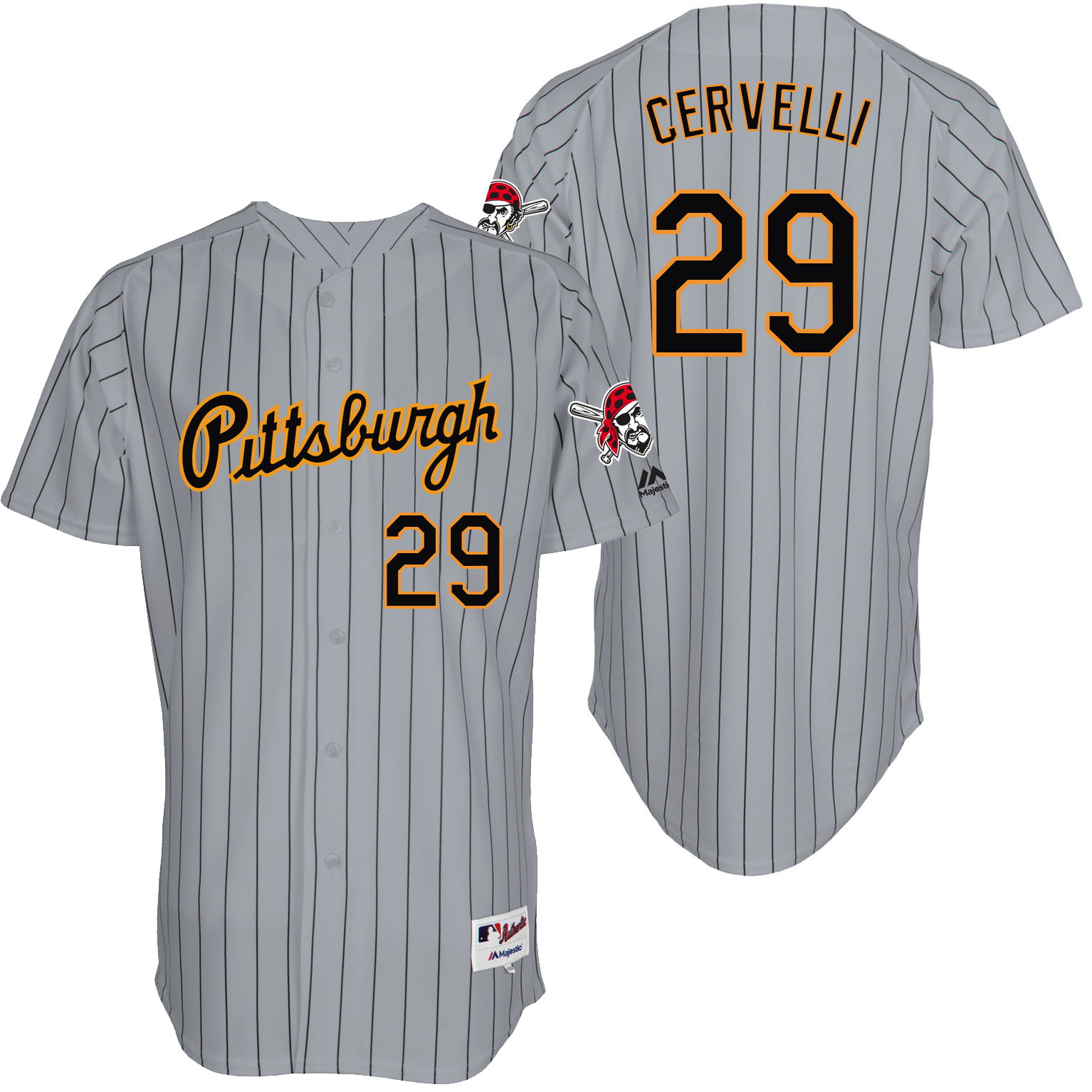 Pirates 29 Francisco Cervelli Grey Throwback Jersey