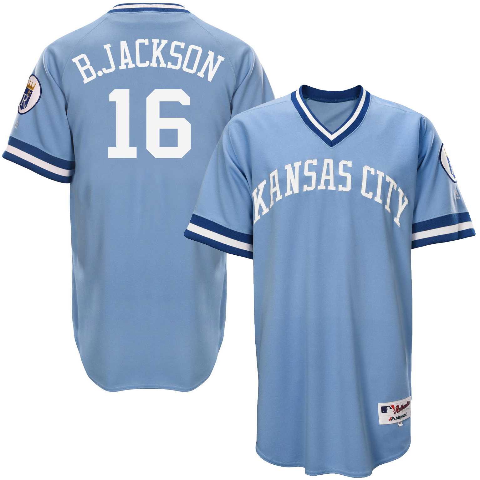 Royals 16 Bo Jackson Light Blue Throwback Jersey