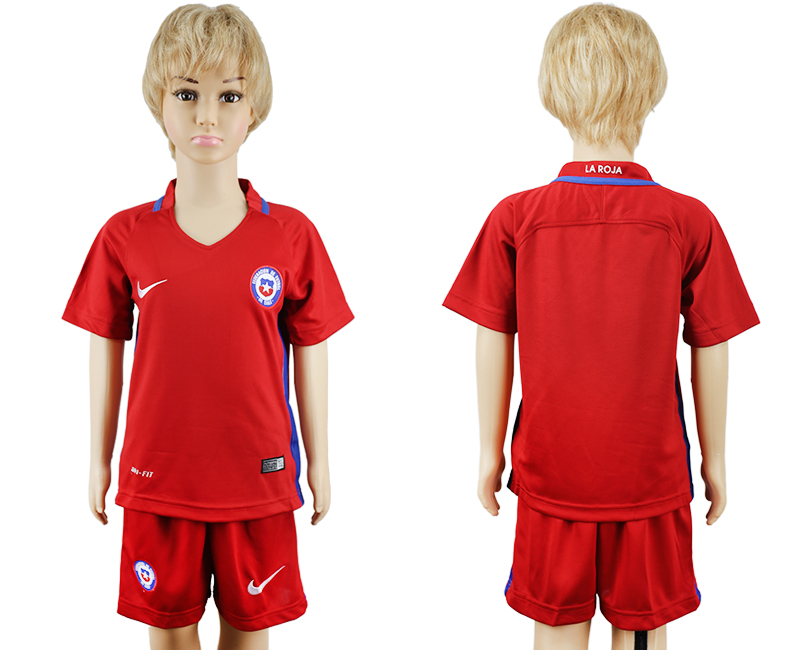 2016-17 Chile Home Youth Soccer Jersey