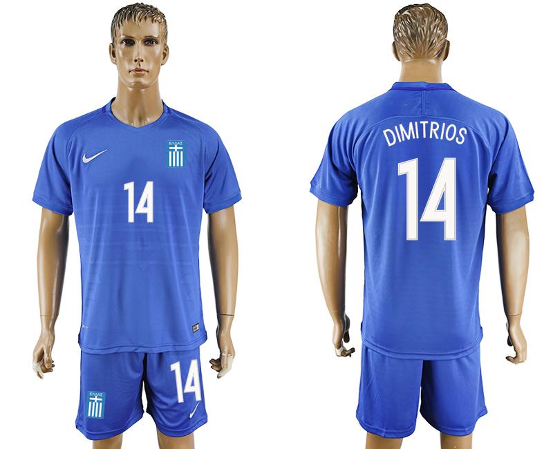 2016-17 Greece 14 DIMITRIOS Away Soccer Jersey