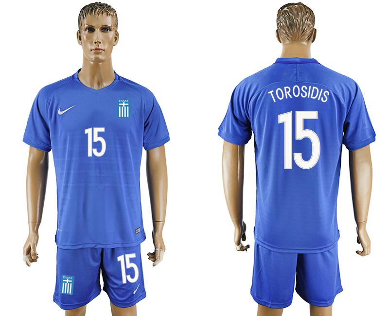 2016-17 Greece 15 TOROSIDIS Away Soccer Jersey