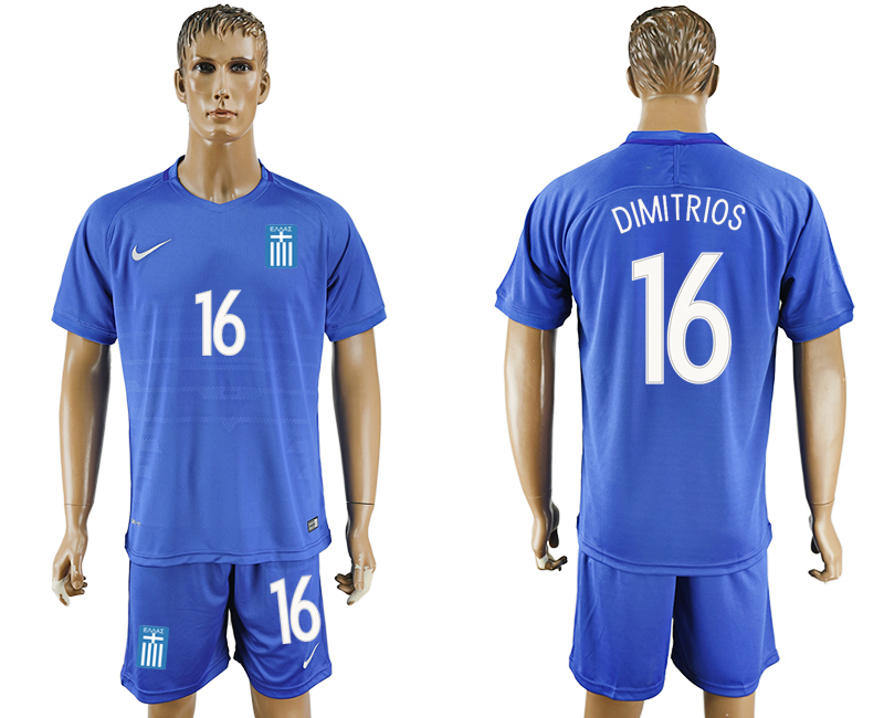 2016-17 Greece 16 DIMITRIOS Away Soccer Jersey