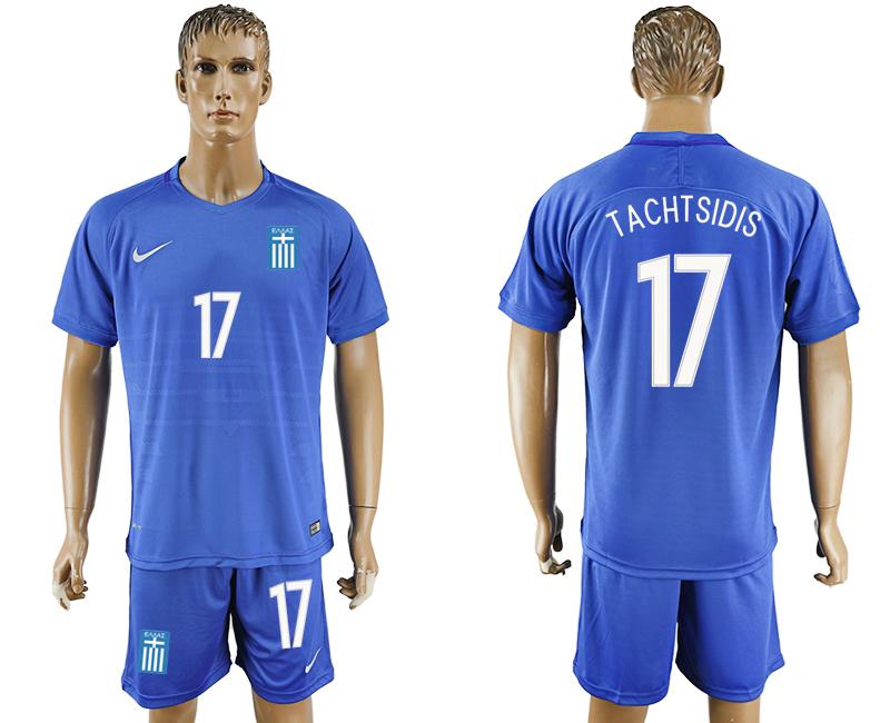 2016-17 Greece 17 TACHTSIDIS Away Soccer Jersey