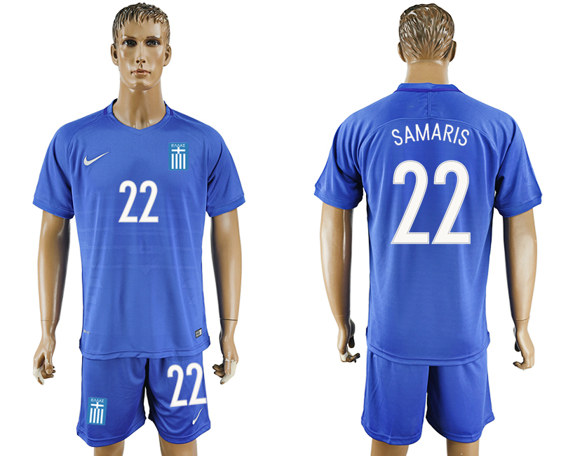 2016-17 Greece 22 SAMARIS Away Soccer Jersey