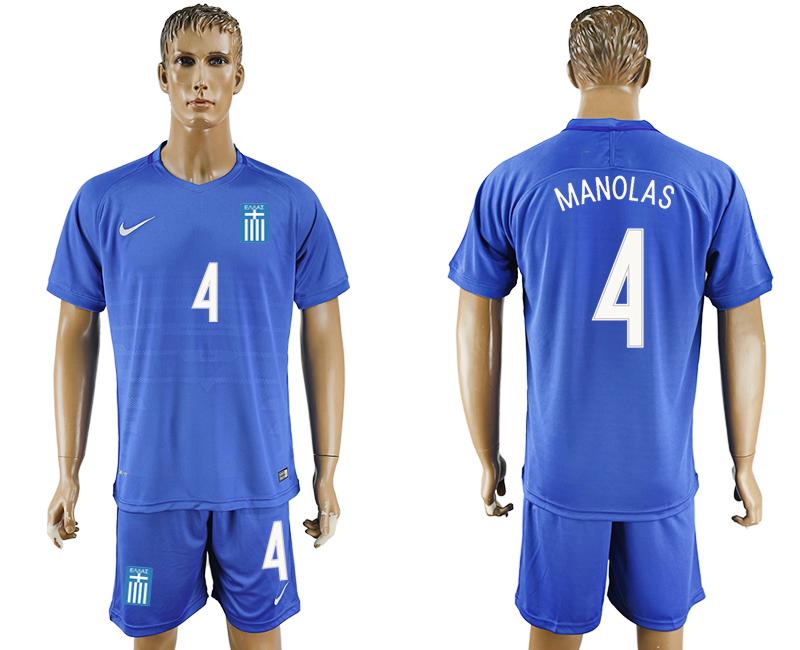 2016-17 Greece 4 MANOLAS Away Soccer Jersey