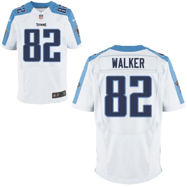 Nike Titans 82 Delanie Walker White Elite Jersey