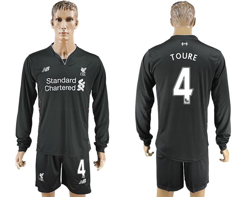 2016-17 Liverpool 4 TOURE Away Long Sleeve Soccer Jersey