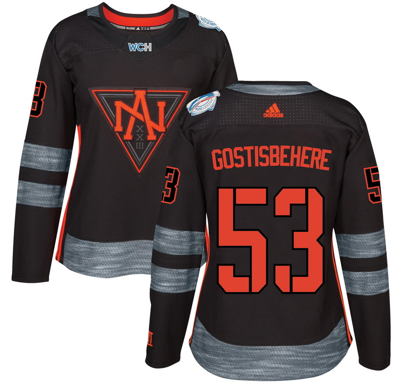 North America 53 Shayne Gostisbehere Black Women World Cup of Hockey 2016 Player Jersey