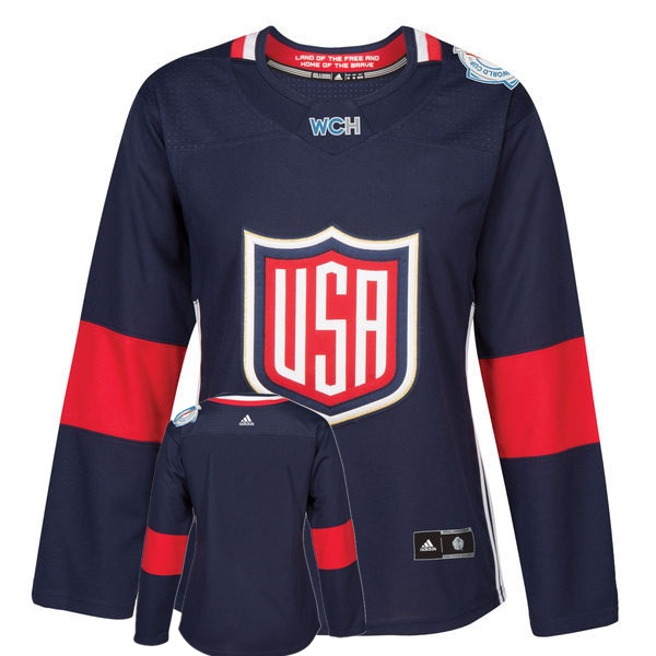 USA Blank Navy Women 2016 World Cup of Hockey Player Jersey
