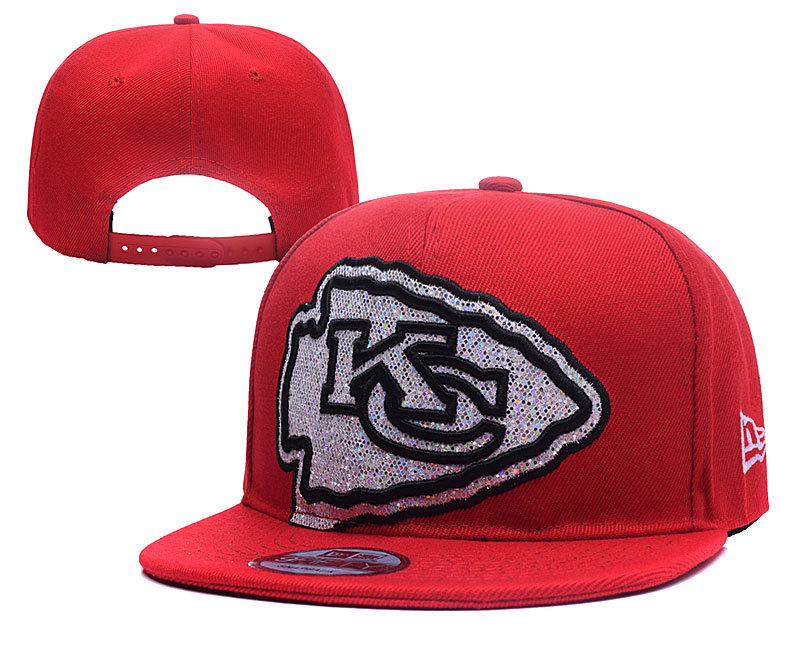 Chiefs Sequins Logo Red Adjustable Hat YD
