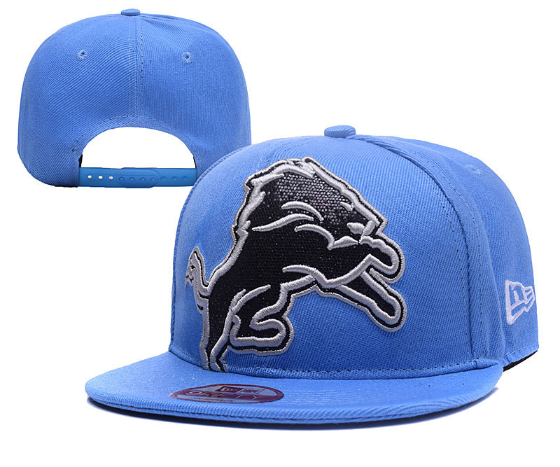 Lions Sequins Logo Blue Adjustable Hat YD