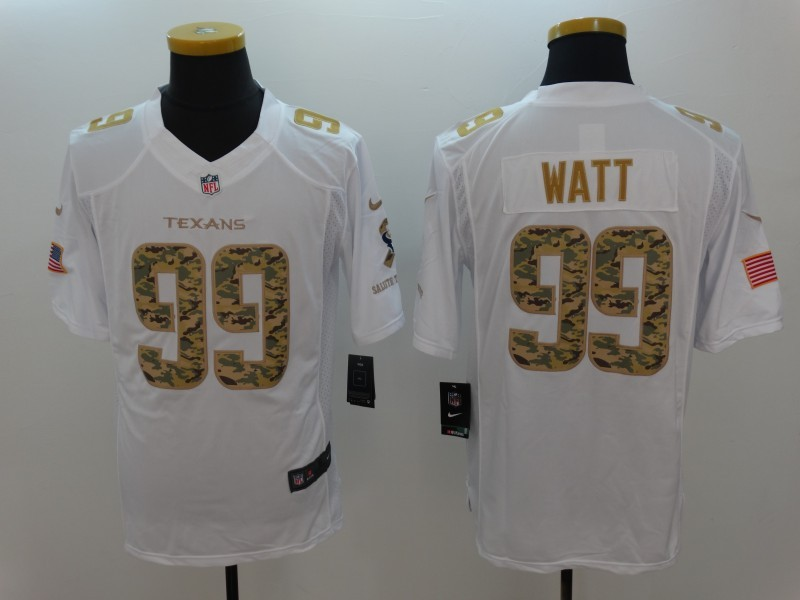 Nike Texans 99 J.J. Watt White Salute To Service Limited Jersey