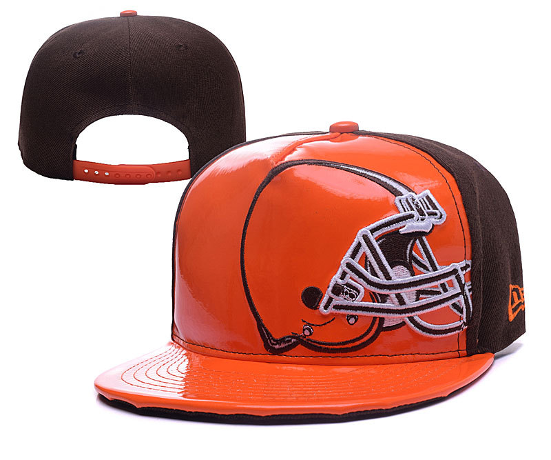 Browns Team Logo Orange & Brown Adjustable Hat YD