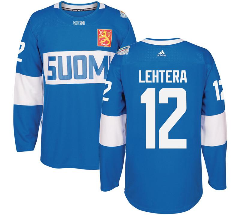 Finland 12 Jori Lehtera Blue 2016 World Cup Of Hockey Premier Player Jersey