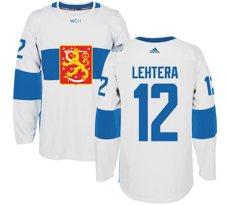 Finland 12 Jori Lehtera White 2016 World Cup Of Hockey Premier Player Jersey