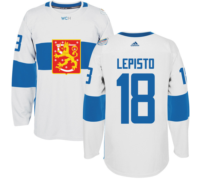 Finland 18 Sami Lepisto White 2016 World Cup Of Hockey Premier Player Jersey